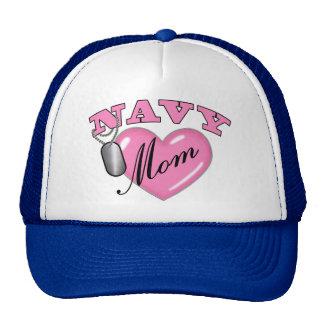 Navy Mom Heart N Dog Tag Cap