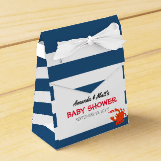 Navy Nautical Crab Baby Shower Favour Box
