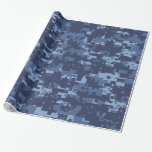Navy NWU Blue Camouflage Wrapping Paper