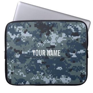 Navy NWU Camouflage Customizable Laptop Sleeve
