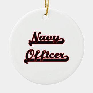 Navy Officer Classic Job Design Ceramic Ornament