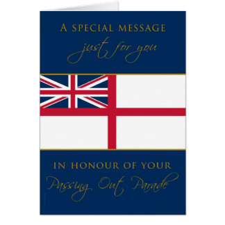 Navy Passing Out Congratulations White Esign Flag Card