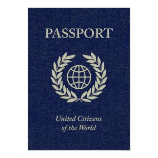 navy passport 13 cm x 18 cm invitation card