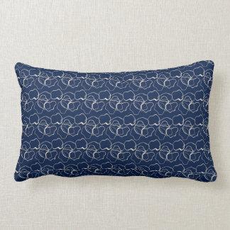 Navy Pattern Throw Pillow