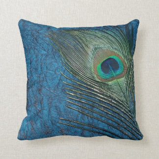 Navy Peacock Cushion