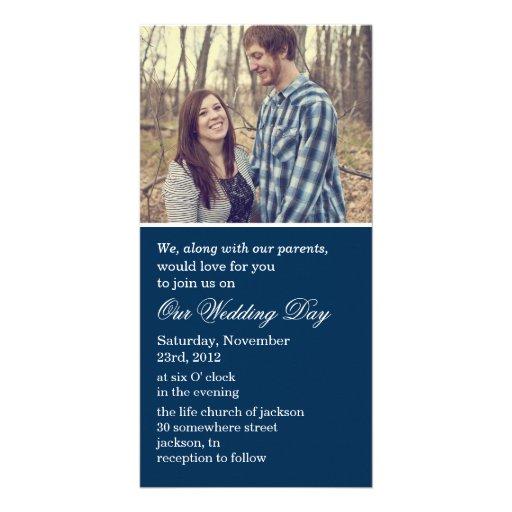 Navy Photo Cards Wedding Invites