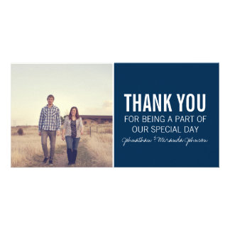 Navy Photo Thank You Cards Photo Greeting Card