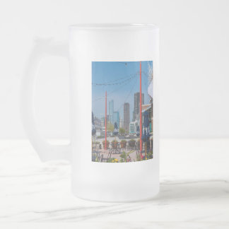 Navy Pier Lines Frosted Glass Beer Mug