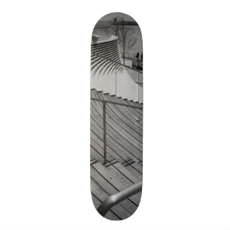 Navy Pier Stairs Grayscale 21.6 Cm Skateboard Deck