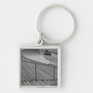 Navy Pier Stairs Grayscale Key Ring