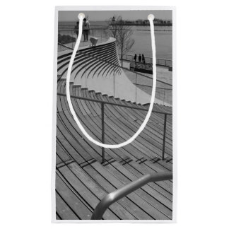 Navy Pier Stairs Grayscale Small Gift Bag