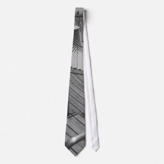 Navy Pier Stairs Grayscale Tie