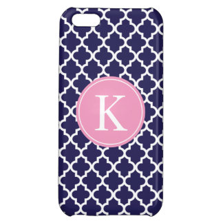 Navy Pink Moroccan Monogram | Apple iPhone 5 iPhone 5C Cover