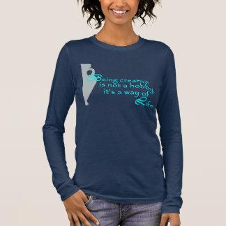 Navy Pottery themed Long sleeve T-Shirt