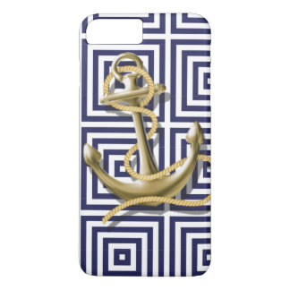 navy preppy pattern nautical anchor iPhone 8 plus/7 plus case