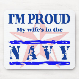 navy proud - wife mouse pad