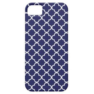 Navy Quatrefoil iPhone 5 Case