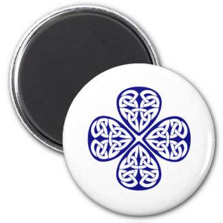 navy shamrock celtic knot magnet