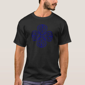 navy shamrock celtic knot T-Shirt