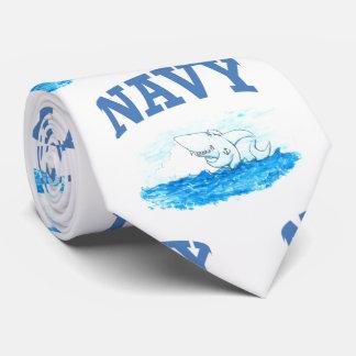Navy Shark Tie