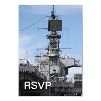 Navy Ship 9 Cm X 13 Cm Invitation Card