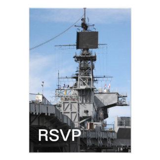 Navy Ship Custom Invitation