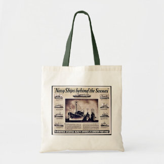 Navy Ships Behind The Scenes Canvas Bags