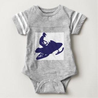 Navy-Snowmobiler Baby Bodysuit