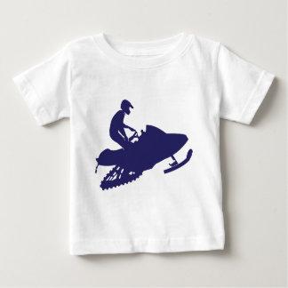 Navy-Snowmobiler Baby T-Shirt