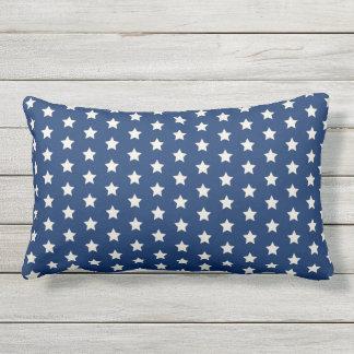 Navy Star Pattern | Patriotic Lumbar Cushion