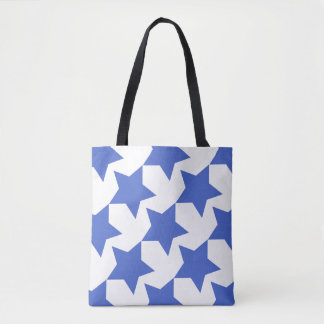 Navy Stars Pattern Custom All-Over-Print Tote Bag