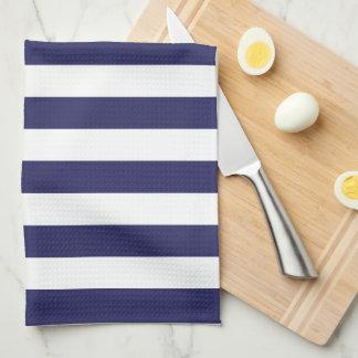 Navy Striped Towel