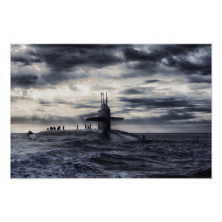 Navy Submarine Poster