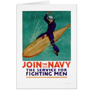 Navy, the Service for Fighting Men (US02288) Greeting Card
