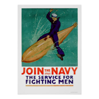 Navy, the Service for Fighting Men (US02288) Poster