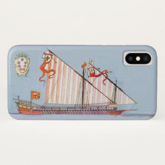 Navy Tuscany Medici,Blue Nautical iPhone X Case