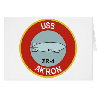 NAVY USS AKRON ZR-4 ZEPLIN CLASS RIGID AIRSHIP CARD