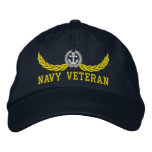 Navy Veteran and nautical motif Embroidered Hats