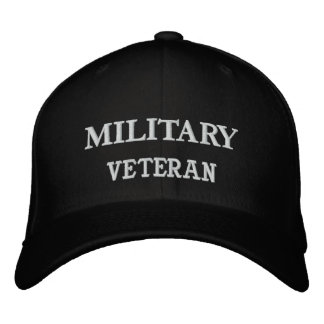 NAVY, VETERAN EMBROIDERED BASEBALL CAPS