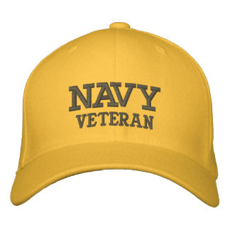 NAVY, VETERAN EMBROIDERED HATS