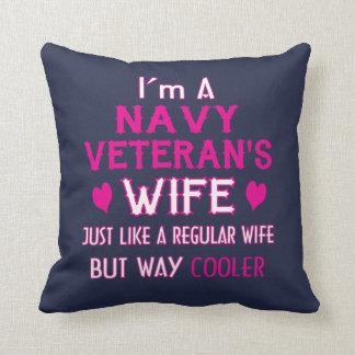 Navy Veteran's Wife Cushion