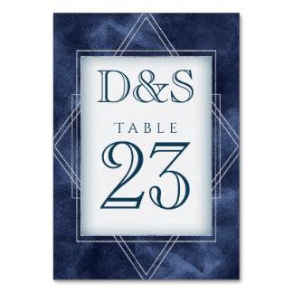 Navy Wedding | Dark Blue Geometric Watercolor | Card