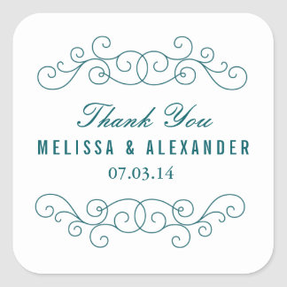 Navy Wedding Favor Stickers