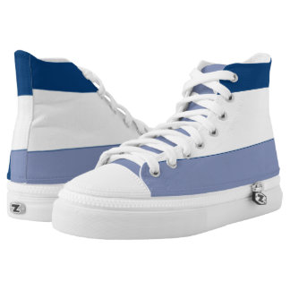 Navy White and Dark Periwinkle Hi-Top
