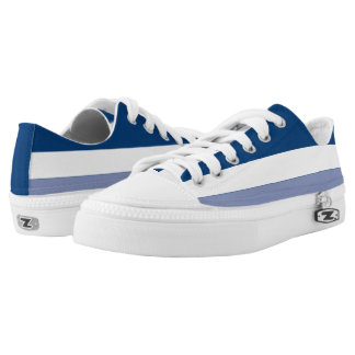 Navy White and Dark Periwinkle Lo-Top
