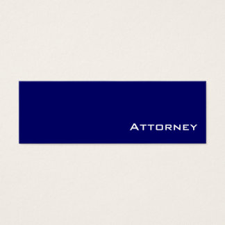 Navy white Attorney business cards