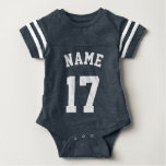 Navy & White Baby | Sports Jersey Design Tees