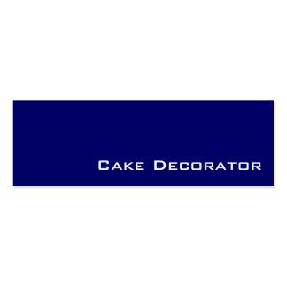 Navy white cake decorator business cards