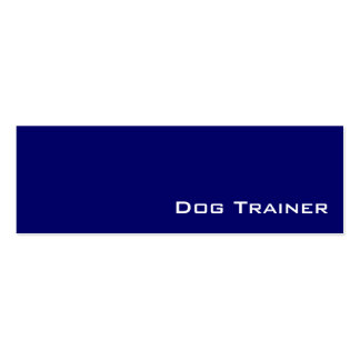 Navy white dog trainer business cards