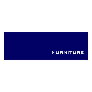 Navy white Furniture business cards